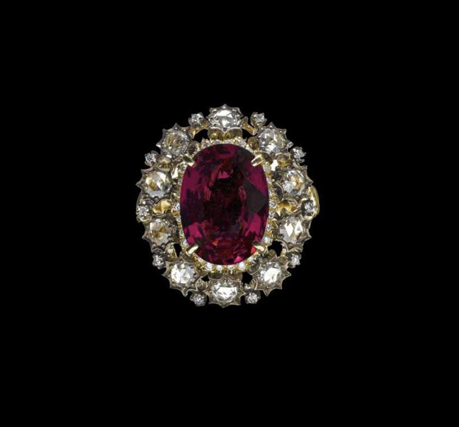 Diamond & Tourmaline Ring