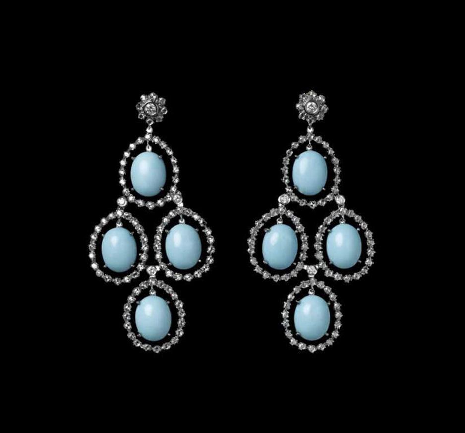 Diamond & Turquoise Earrings