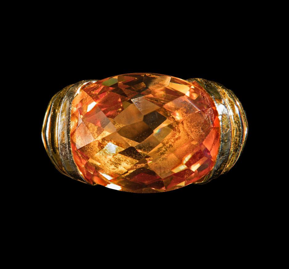 Citrine, Yellow Gold & White Gold Vermeil Ring